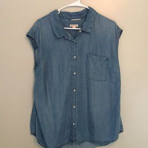 Short sleeved jean shirt